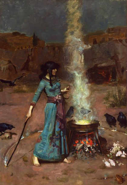 The_magic_circle,_by_John_William_Waterhouse